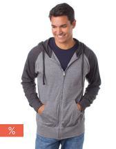 Men`s Lightweight Jersey Raglan Zip Hood